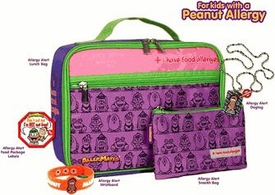 The Peanut Allergy Survival Kit For KidsIncludes Pink Lunch Bag, Pink Snack Bag, Peanut Allergy Wristband, Peanut Allergy Dog Tag,