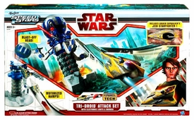 Star Wars 2010 Playset Speed Stars Tri-Droid Attack Set