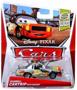 Disney / Pixar CARS MAINLINE 1:55 Die Cast Car Darrell Cartrip with Headset [WGP 14/17]