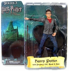 Harry Potter and the Order of the Phoenix NECA 7 Inch Series 3 Action Figure Harry  [Prophecy Orb, Wand & Base]