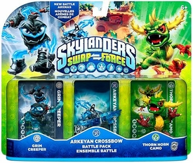 Skylanders SWAP FORCE Battle Pack Arkeyan Crossbow [Grim Creeper, Thorn Horn Camo & Arkeyan Crossbow]