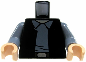 LEGO LOOSE Torso Black Vest & Gray Shirt