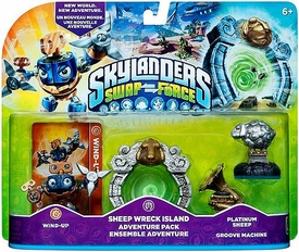 Skylanders SWAP FORCE Adventure Pack Sheep Wreck Island [Wind-Up, Platinum Sheep, Groove Machine]