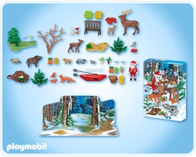 Playmobil Suburban Life Advent Calendar Set #4155 Christmas In The Forest