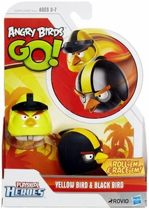 Angry Birds GO! Playskool Heroes Yellow Bird & Black Bird