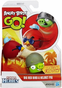 Angry Birds GO! Playskool Heroes Big Red Bird & Helmet Pig New!