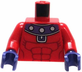 LEGO LOOSE Torso Red Muscular Torso with Purple Collar & Gloves BLOWOUT SALE!