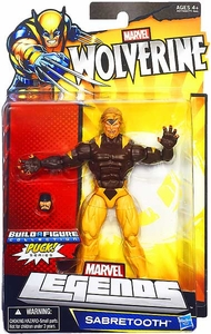 Marvel Wolverine Legends Exclusive Action Figure Sabretooth [Build Puck Piece!]