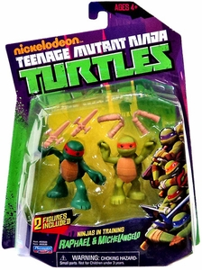 Nickelodeon Teenage Mutant Ninja Turtles Action Figure 2-Pack Ninjas in Training [Raphael & Michelangelo]