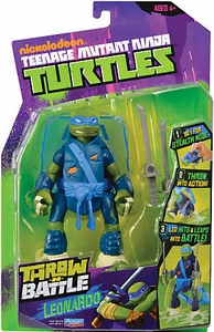 Nickelodeon Teenage Mutant Ninja Turtles Action Figure Throw N Battle Leonardo