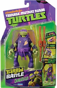 Nickelodeon Teenage Mutant Ninja Turtles Action Figure Throw N Battle Donatello