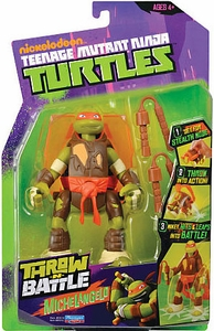 Nickelodeon Teenage Mutant Ninja Turtles Action Figure Throw N Battle Michelangelo