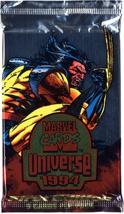 Marvel Universe Trading Card 1994 Marvel Universe Booster Pack