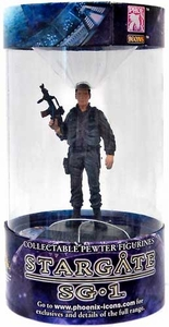 Phoenix Icons Stargate SG-1 Series 1 Pewter Figure Lieutenant Colonel Cameron Mitchell [Black Ops]