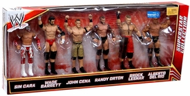 Mattel WWE Wrestling Exclusive Superstar Collection Action Figure 6-Pack Sin Cara, Wade Barrett, John Cena, Randy Orton, Brock Lesnar & Alberto Del Rio