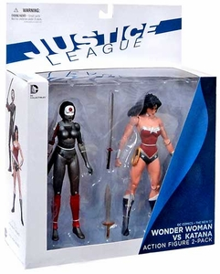 DC Collectibles New 52 Action Figure 2-Pack Wonder Woman & Katana