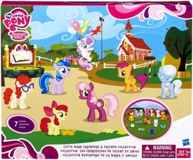 My Little Pony Exclusive Figure 7-Pack Cutie Mark Crusaders [Apple Bloom, Scootaloo, Sweetie Belle, Ms. Cheerilee,  Silver Spoon, Twist-a-loo & Star Dream]