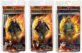 NECA The Hunger Games Movie Series 1 Set of 3 Action Figures [Katniss, Peeta & Gale]