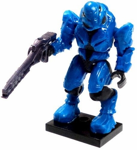 Halo Wars Mega Bloks LOOSE Mini Figure Blue Covenant Elite Commando with Beam Rifle