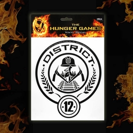 NECA The Hunger Games District 12 Laptop Decals
