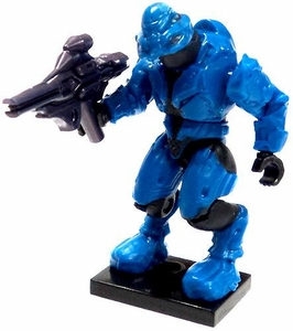 Halo Wars Mega Bloks LOOSE Mini Figure Blue Covenant Elite Commando with Type 52 Munitions Launcher