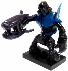 Halo Wars Mega Bloks LOOSE Mini Figure Blue Covenant Grunt with Energy Rifle