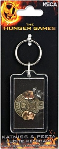 NECA The Hunger Games Katniss & Peeta Lucite Keychain