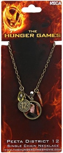 NECA The Hunger Games Peeta District 12 Single Chain Necklace