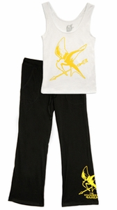 NECA The Hunger Games Mockingjay Women's Pajama Set Size XL