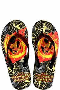 NECA The Hunger Games Mockingjay Rubber Flip Flops [Size SMALL 5-6]