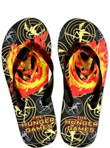 NECA The Hunger Games Mockingjay Rubber Flip Flops [Size MEDIUM 7-8]