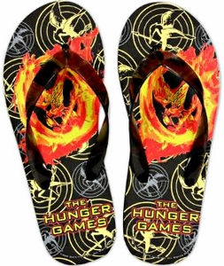 NECA The Hunger Games Mockingjay Rubber Flip Flops [Size LARGE 9-10]