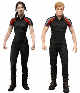 NECA The Hunger Games Movie Series 2 Set of 2 Action Figures [Katniss & Peeta in Training Outfits]