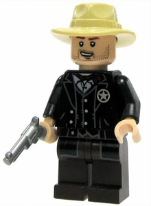 LEGO Lone Ranger LOOSE Mini Figure Sheriff with Silver Revolver