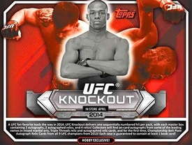 Topps UFC Ultimate Fighting Championship 2014 Knockout Trading Card Box [8 Packs] Pre-Order ships April