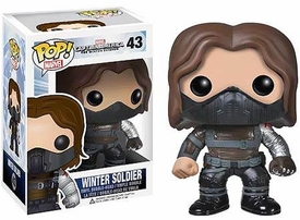 Funko POP! Marvel Winter Soldier Vinyl Bobble Head Winter Soldier [UNMASKED] New!