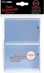 Ultra Pro Card Supplies STANDARD Card Sleeves Clear [100 Sleeves]