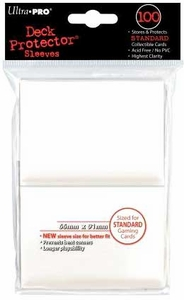 Ultra Pro Card Supplies STANDARD Card Sleeves White [100 Sleeves]