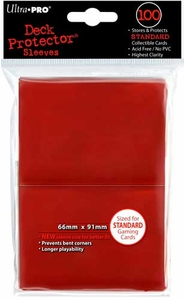 Ultra Pro Card Supplies STANDARD Card Sleeves Red [100 Sleeves]