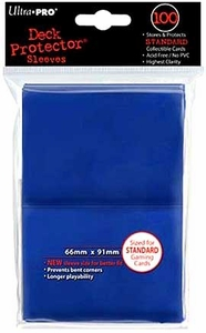 Ultra Pro Card Supplies STANDARD Card Sleeves Blue [100 Sleeves]