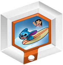Disney Infinity Series 2 Power Disc Hangin' Ten Stitch with Surfboard [10 of 20]