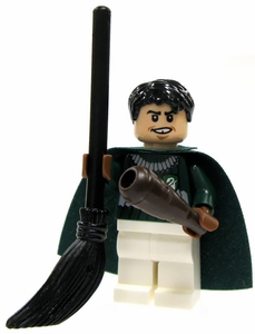 LEGO Harry Potter LOOSE Mini Figure Marcus Flint in Quidditch Gear with Bludger Club and Broom