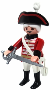 Playmobil LOOSE Mini Figure Male British Officer with Tricorn Hat & Saber [Light Flesh]