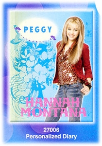 Hannah Montana Personalized Diary Hannah Cover [Blue] Style #27006
