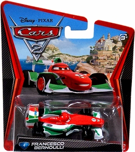 Disney / Pixar CARS 2 Movie 1:55 Die Cast Car #4 Francesco Bernoulli Hot!