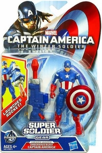 Captain America The Winter Soldier 3.75 Inch Action Figure Captain America  [Shockwave Blast] New!