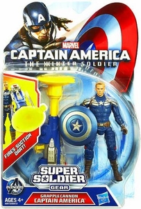 Captain America The Winter Soldier 3.75 Inch Action Figure Grapple Cannon Captain America