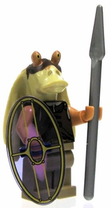 LEGO Star Wars LOOSE Mini Figure Gungan Warrior with Spear & Shield [Printed Head]