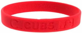 Official MLB Major League Baseball Team Rubber Bracelet Chicago Cubs [Red]