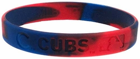 Official MLB Major League Baseball Team Rubber Bracelet Chicago Cubs [Marble]